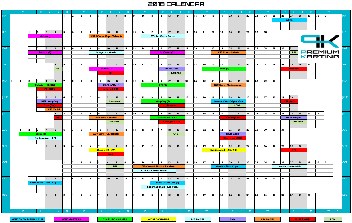 European Championship Calendars: a selection of sites